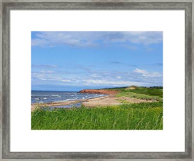 Red Cliffs Of Pei Framed Print
