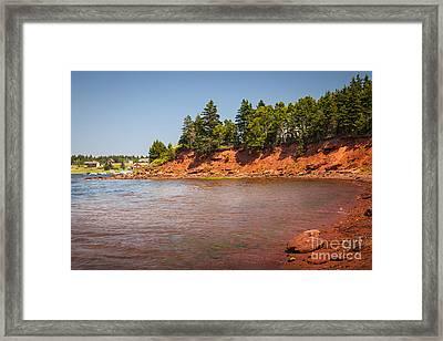 Red Cliffs Of Prince Edward Island Framed Print
