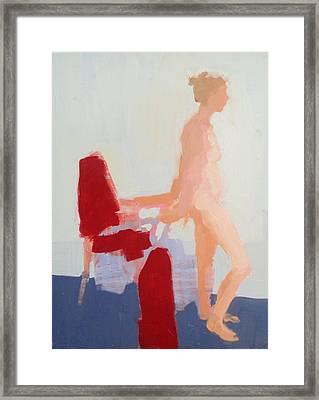 Red Cloth Framed Print by Cynthia Harvey