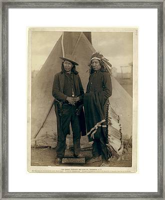 Red Cloud And American Horse. The Two Most Noted Chiefs Now Framed Print by Litz Collection