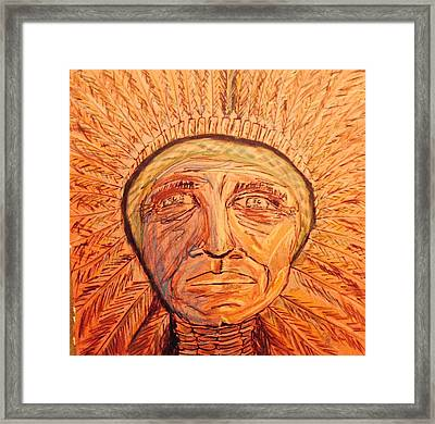 Red Cloud Framed Print by Edward Paul