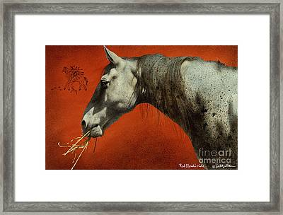Red Clouds Ride... Framed Print by Will Bullas