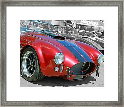Framed Print featuring the photograph Red Cobra by Shoal Hollingsworth
