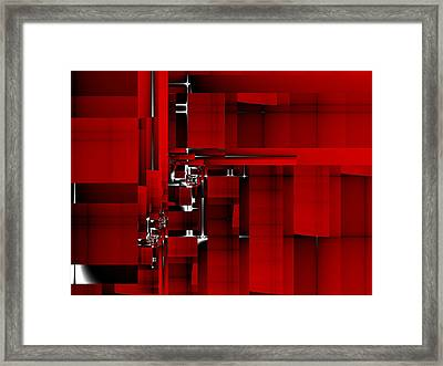 Red Construction I Framed Print by Richard Ortolano