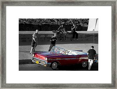 Red Convertible II Framed Print
