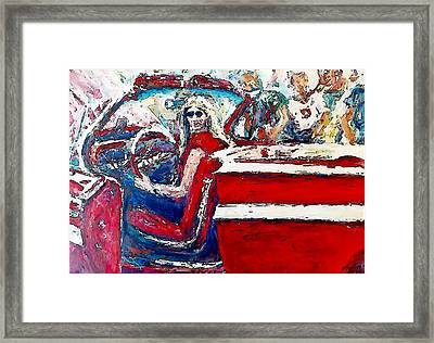 Red Convertible Framed Print