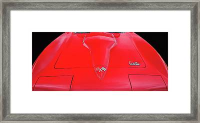 Framed Print featuring the photograph Red Corvette by Dave Mills