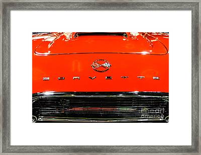 Red Corvette Picture - First Generation C1 Vette Framed Print by Paul Velgos