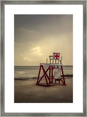 Red Cross Lifeguard Framed Print by Marvin Spates