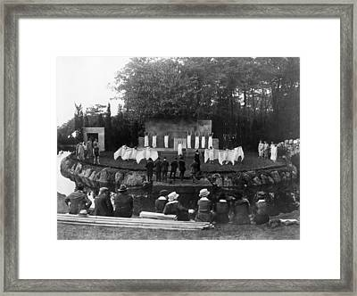 Red Cross Pageant, 1917 Framed Print by Granger