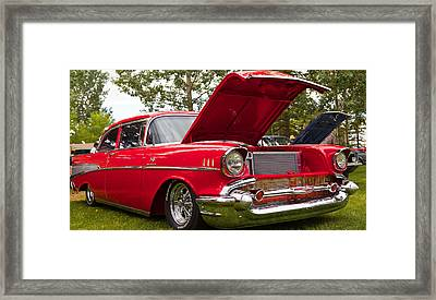 Framed Print featuring the photograph Red Customised Car by Mick Flynn