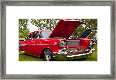 Red Customised Car Framed Print