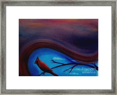 Red Framed Print by Cynthia Vaught