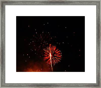 Framed Print featuring the photograph Red Dahlia by Amar Sheow