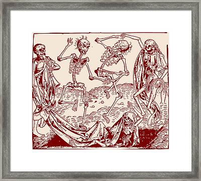Red Dance Macabre Framed Print by