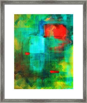 Red Dash Framed Print