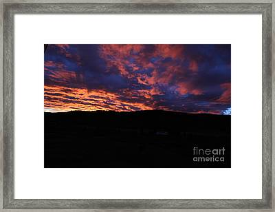 Framed Print featuring the photograph Red Dawn by Ann E Robson
