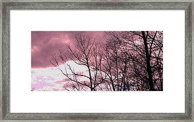 Framed Print featuring the photograph Red Dawn by Candice Trimble