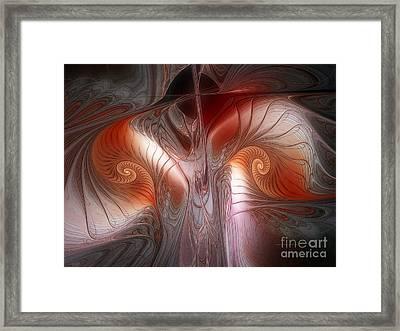 Red Dawn-fractal Design Framed Print