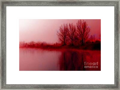 Framed Print featuring the photograph Red Dawn by Julie Lueders