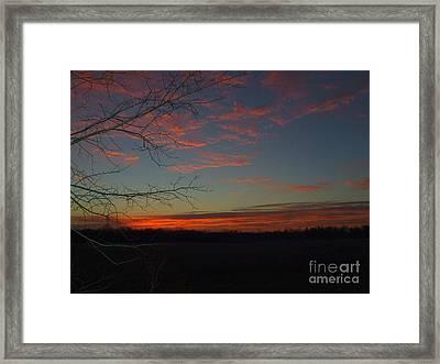 Red Dawn Lv Framed Print