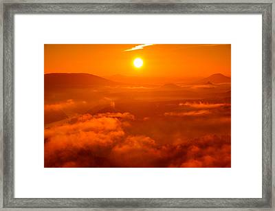 Red Dawn On The Lilienstein Framed Print