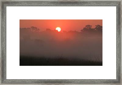 Framed Print featuring the photograph Red Dawn by Peg Urban
