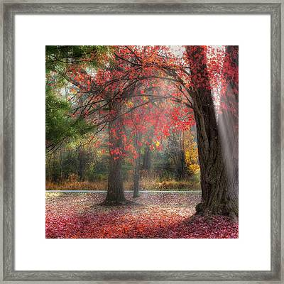 Red Dawn Square Framed Print by Bill Wakeley