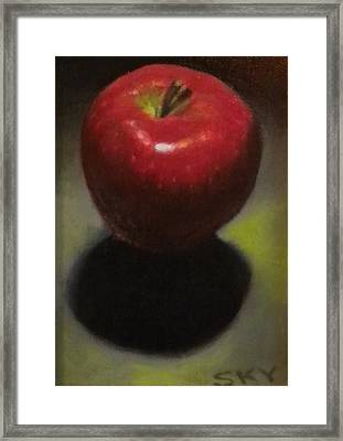 Red Delicious Framed Print by Blue Sky