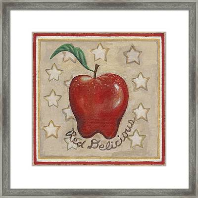Red Delicious Two Framed Print by Linda Mears