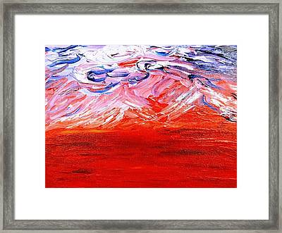 Red Desert Framed Print by Amy Drago