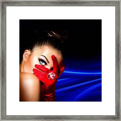 Red Desire Framed Print by Karen Showell
