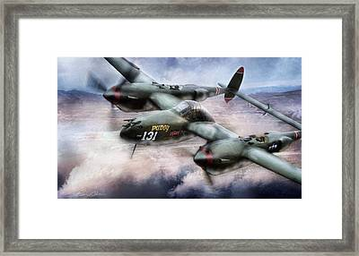 Red Devil Ace Framed Print by Peter Chilelli