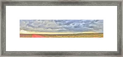 Red Dirt Blue Storm Framed Print by Lanita Williams