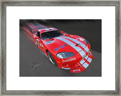 Red Dodge Viper Framed Print by Gill Billington