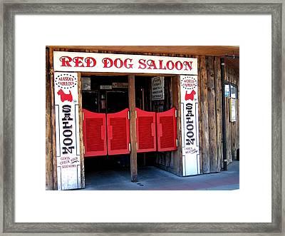 Red Dog Saloon Juneau Framed Print