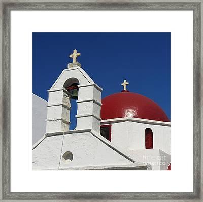 Red Dome Church 2 Framed Print by Mel Steinhauer