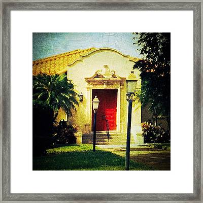 Red Door 1 Framed Print by Beth Williams
