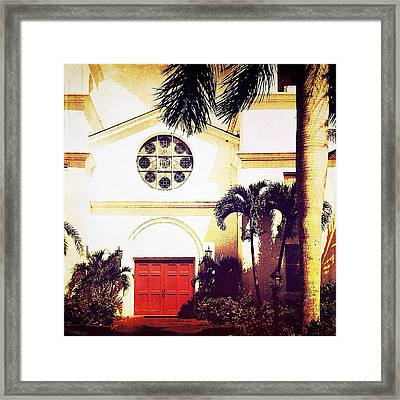 Red Door 2 Framed Print by Beth Williams
