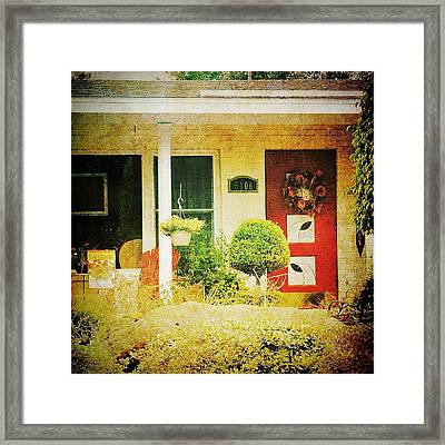 Red Door 5 Framed Print by Beth Williams