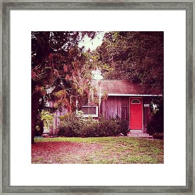 Red Door 9 Framed Print by Beth Williams