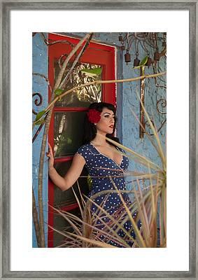 Red Door Framed Print by Ben Baron
