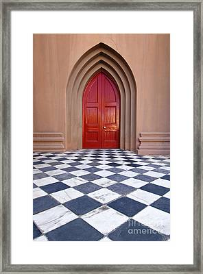 Red Door - D001859 Framed Print