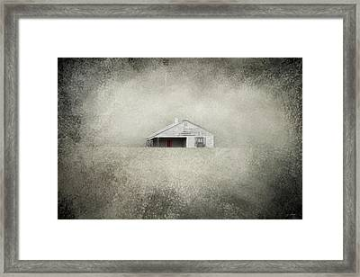 Red Door Farmhouse Framed Print