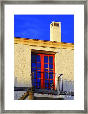 Framed Print featuring the photograph Red Door by George Mount