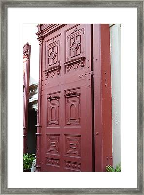 Red Door - Grand Palace In Bangkok Thailand - 01131 Framed Print by DC Photographer