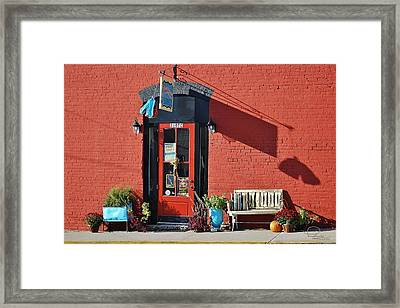 Framed Print featuring the photograph Red Door by Ludwig Keck