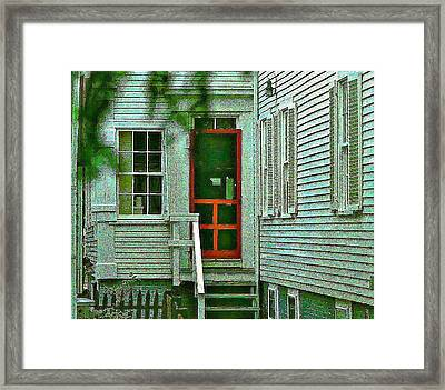 Red Door On The Cape Framed Print by Ira Shander
