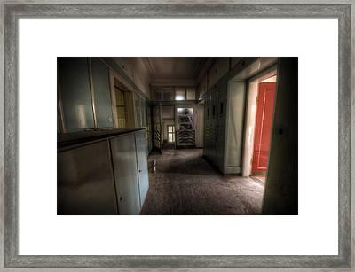 Red Door Open Framed Print