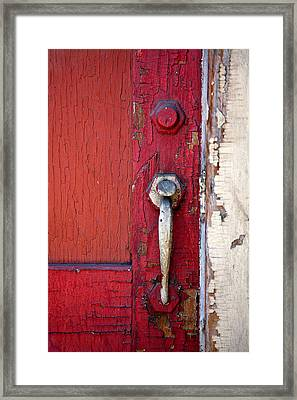 Red Door Framed Print by Peter Tellone